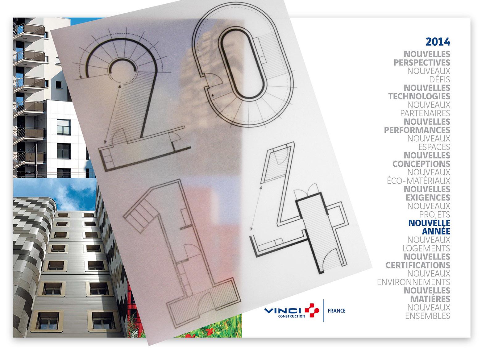 Vinci Construction. Carte de vœux   Agence Punk
